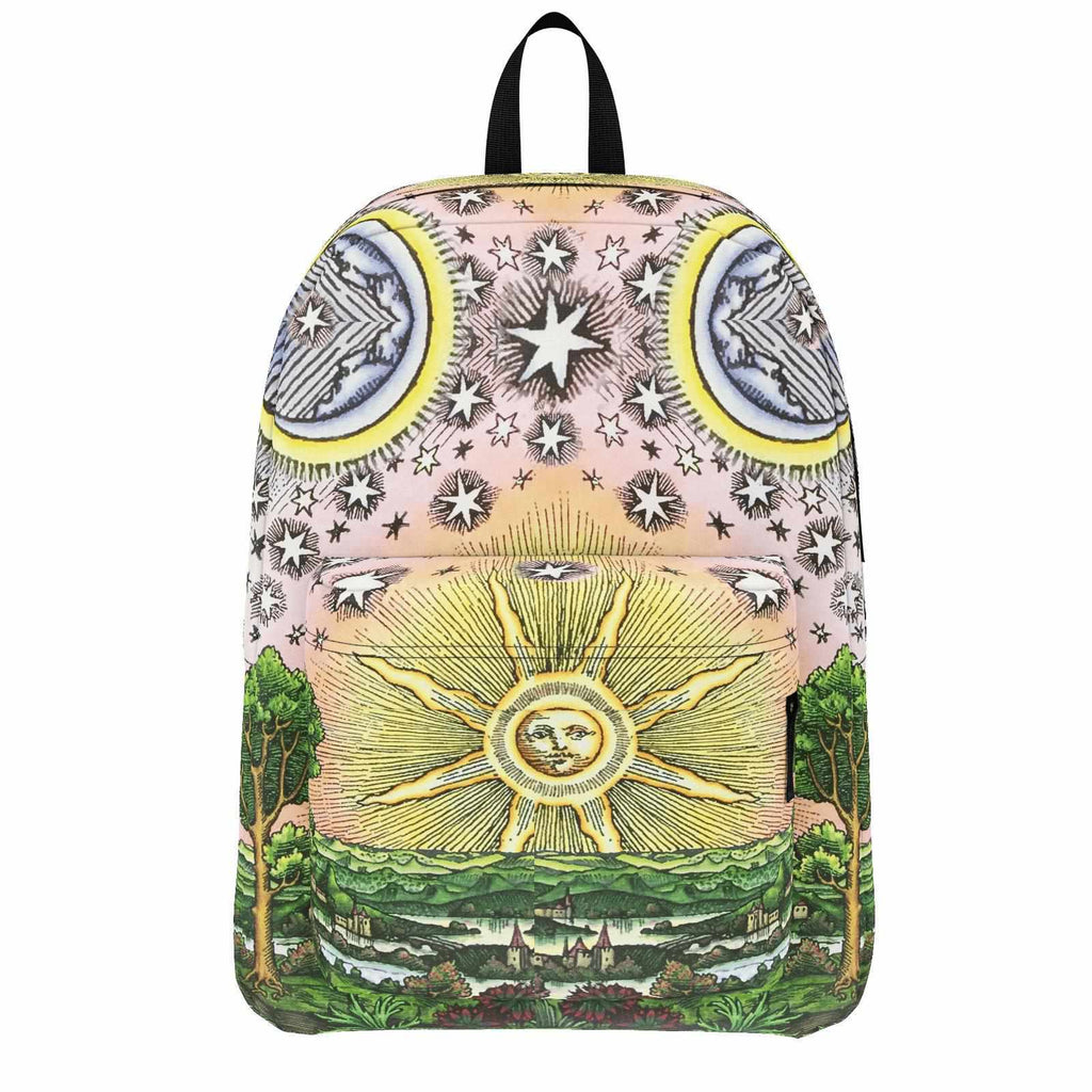 Alchemical Pilgrim - Backpack-Bag-ONE SIZE-Sacred Geometry Web -Flower of Life backpacks and pencil Cases