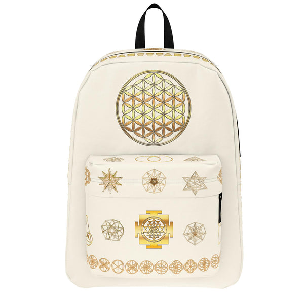 Sacred Geometry- Pastel Backpack - Choose Color-Bag-ONE SIZE-Sacred Geometry Web -Flower of Life backpacks and pencil Cases