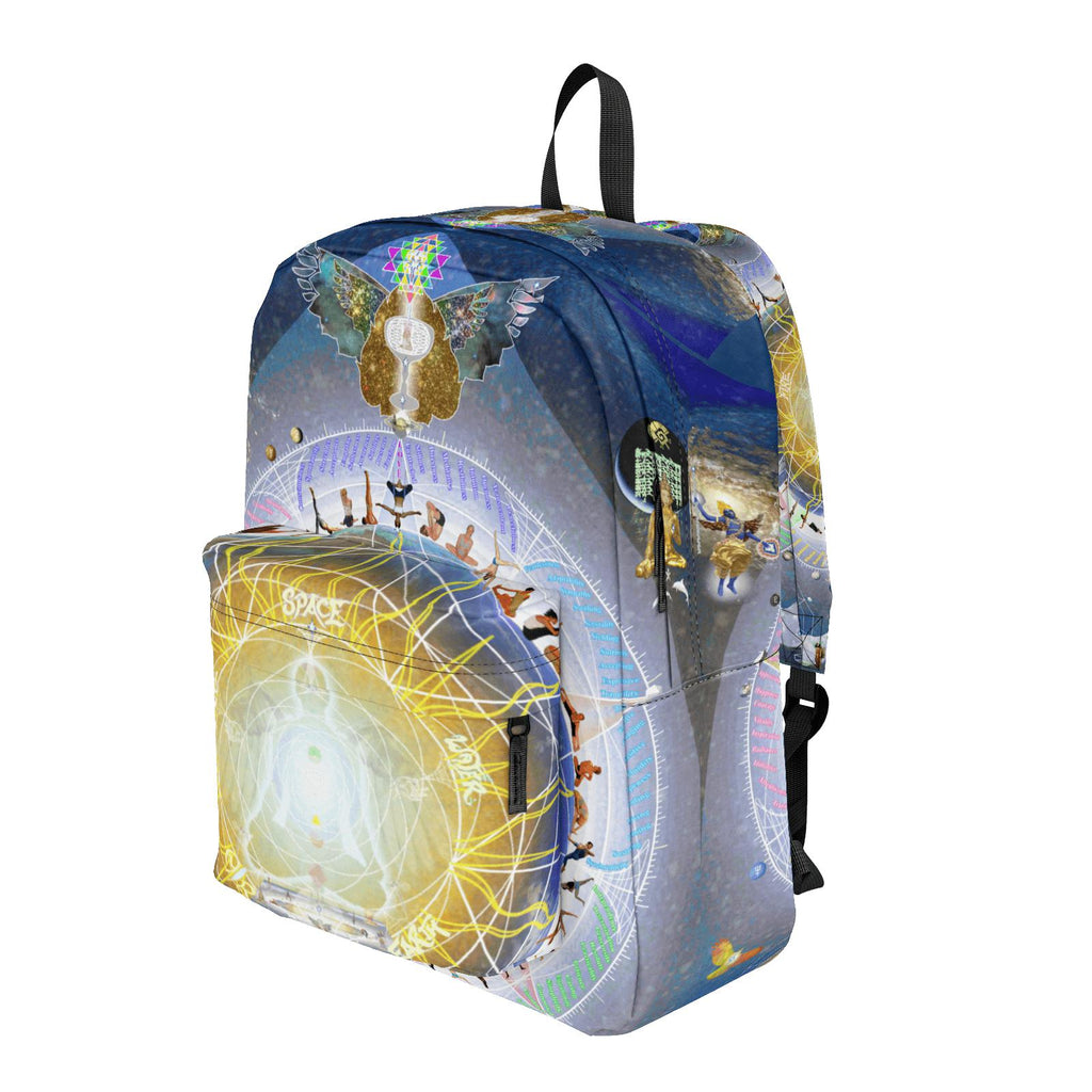 Universal Yoga Mandala Solar Angel - Backpack-Bag-ONE SIZE-Sacred Geometry Web -Flower of Life backpacks and pencil Cases