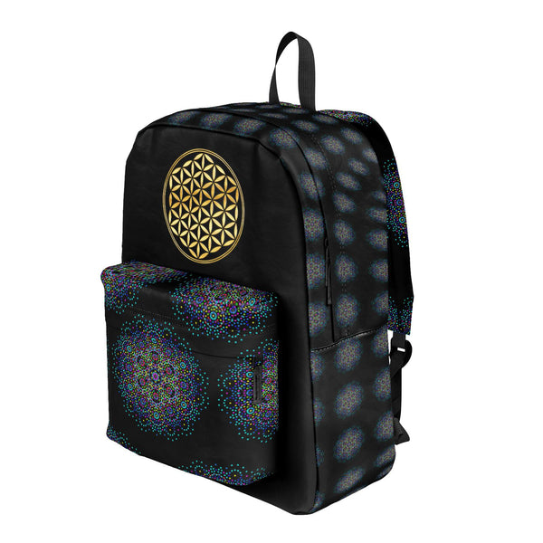 Flower of Life Multicolor - Backpack-Bag-ONE SIZE-Sacred Geometry Web -Flower of Life backpacks and pencil Cases