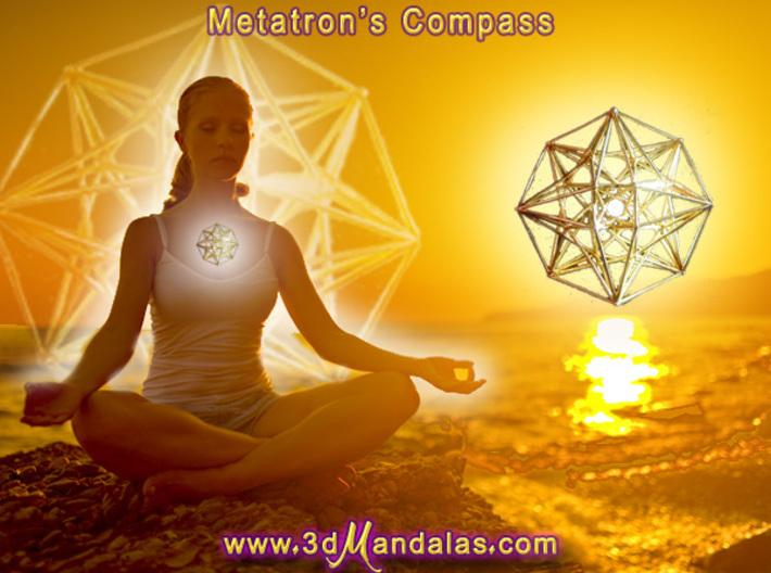 4D Vector Equilibrium Metatron's Compass 32mm-Pendants and Necklaces-Sacred Geometry Web 3d printed geometric models