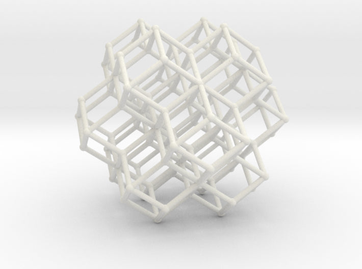 RhombicDodeca Honeycomb 50mm-Mathematical Art-White Natural Versatile Plastic-Sacred Geometry Web 3d printed geometric models