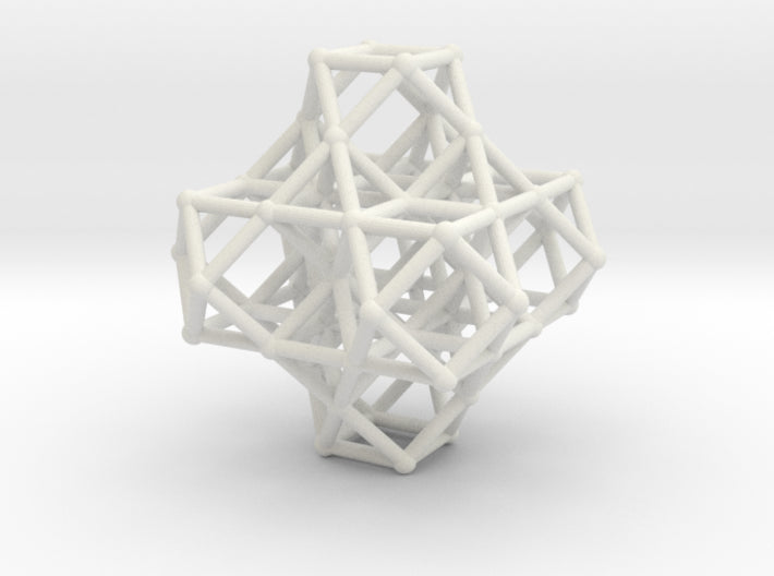 7 VE cluster, 8 Octahedron, Cellular Universe-Mathematical Art-White Natural Versatile Plastic-Sacred Geometry Web 3d printed geometric models