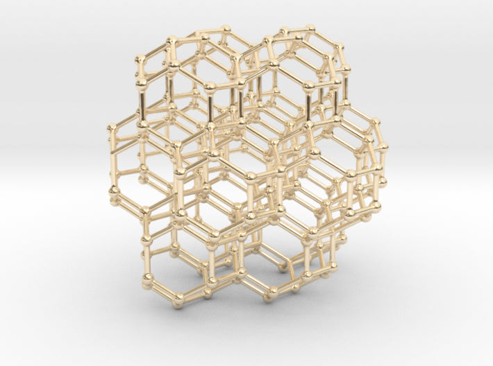 7 sided honeycomb cluster pendant-Mathematical Art-Sacred Geometry Web 3d printed geometric models