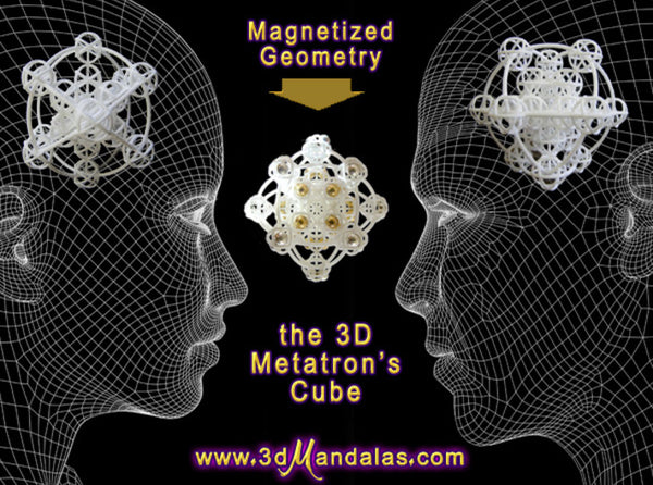 3D Metatron's Sphere: based on Metatron's Cube - plus magnets-Other-White Natural Versatile Plastic-Sacred Geometry Web 3d printed geometric models