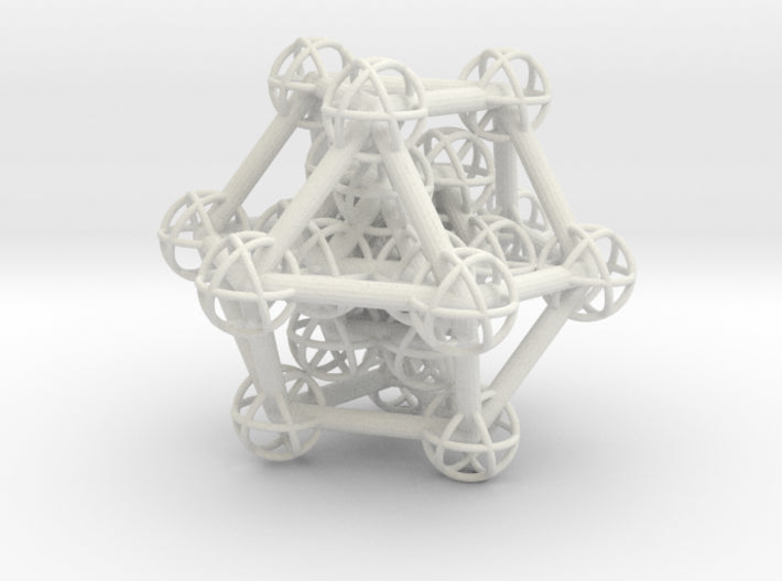 Hyper Cuboctahedron study-Mathematical Art-White Natural Versatile Plastic-Sacred Geometry Web 3d printed geometric models