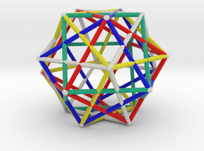 Star Cage Cubes 100mm Sacred Geometry-Mathematical Art-Natural Full Color Sandstone-Sacred Geometry Web 3d printed geometric models
