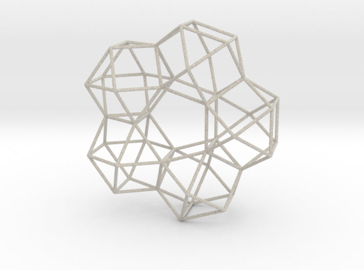 Vector Equilibrium 5 Symmetry study 20cm-Other-Natural Sandstone-Sacred Geometry Web 3d printed geometric models