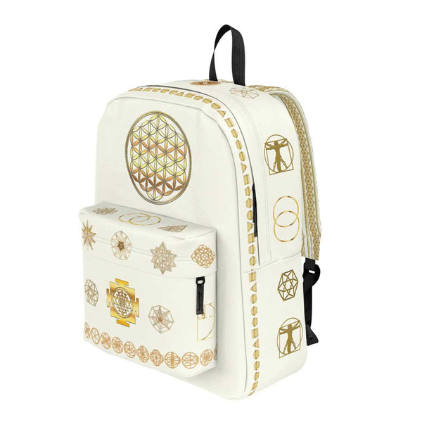 Sacred Geometry- Backpack - Choose Color Light-Bag-ONE SIZE-Sacred Geometry Web -Flower of Life backpacks and pencil Cases