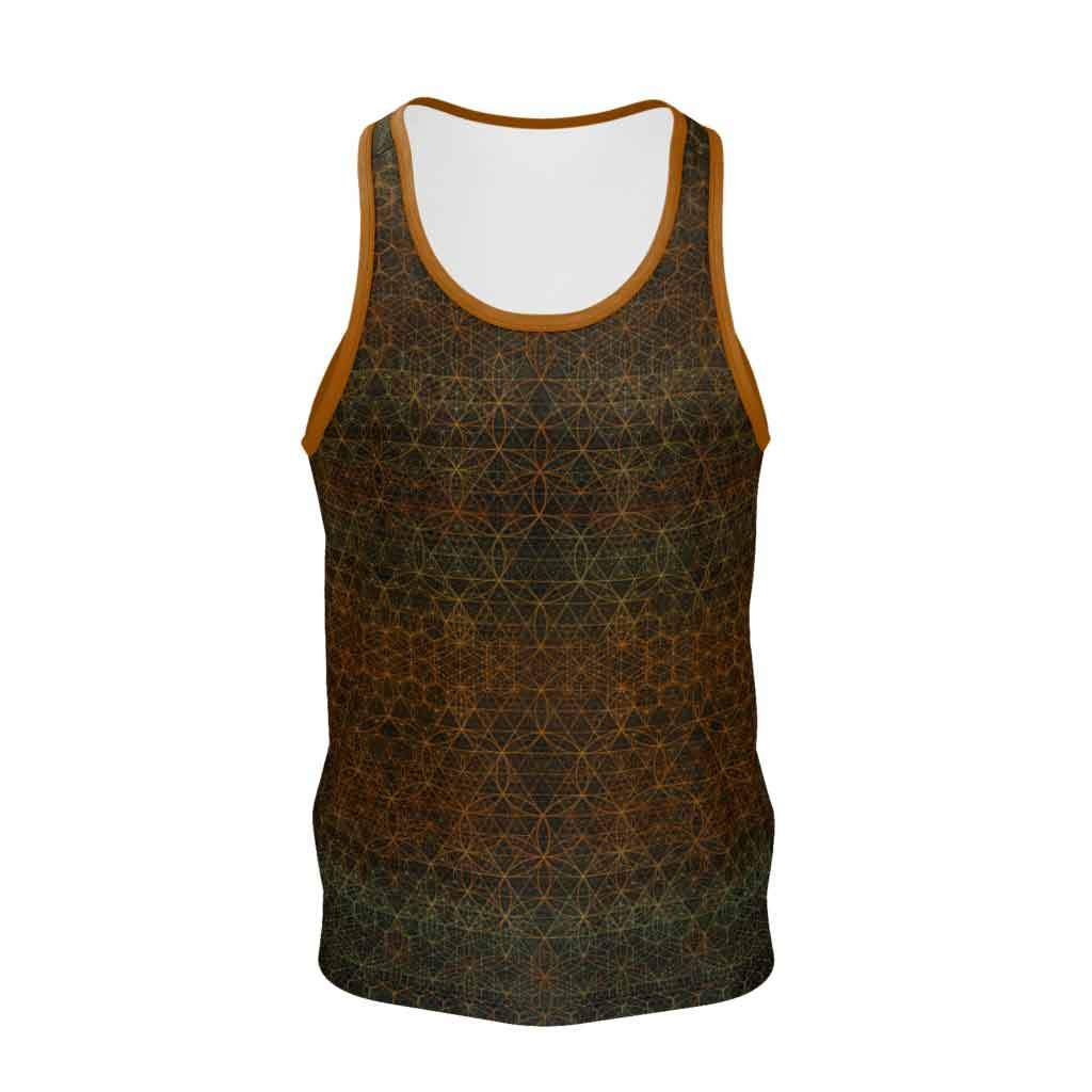 Autumn in the Garden of Life - Mens Tank Top-Shirt-Sacred Geometry Web mens clothing