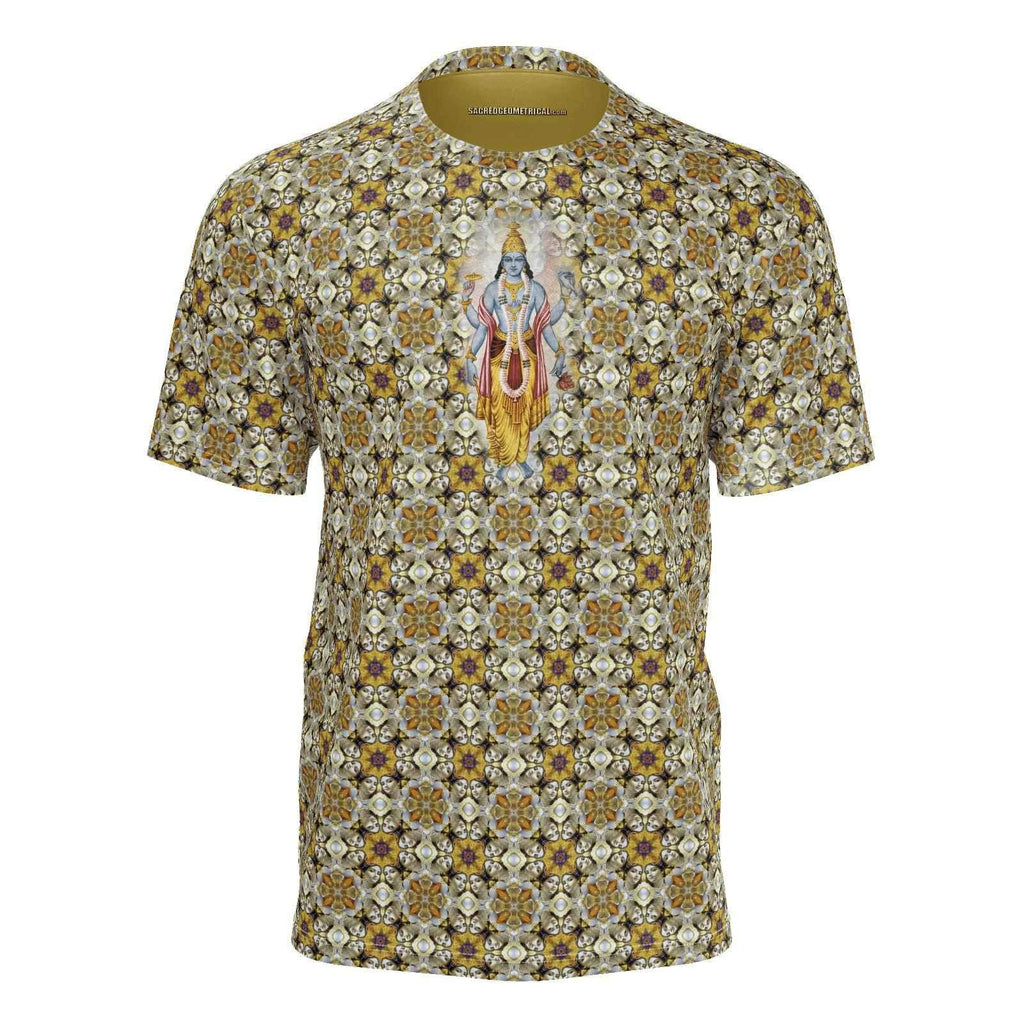 Bhakti Yoga Faces of Govindaya - Tshirt-Shirt-Sacred Geometry Web mens clothing