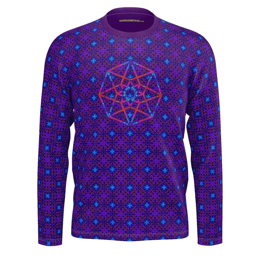 Cosmic Crew - Lucid Dreamer Mans LS - SJ Tshirt-Shirt-Sacred Geometry Web mens clothing