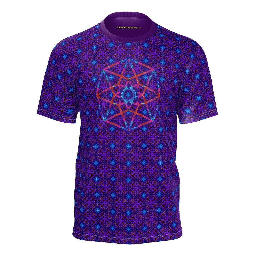 Cosmic Crew - Lucid Dreamer - SJ Tshirt-Shirt-Sacred Geometry Web mens clothing