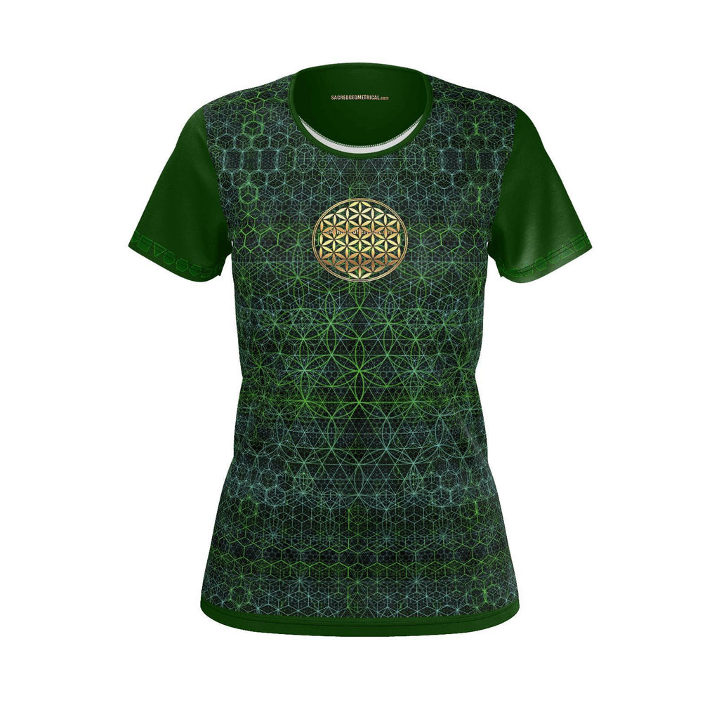 Flower in the Garden of Life - Womans Tshirt SJ-Shirt-Sacred Geometry Web - Womens Flower of Life clothing