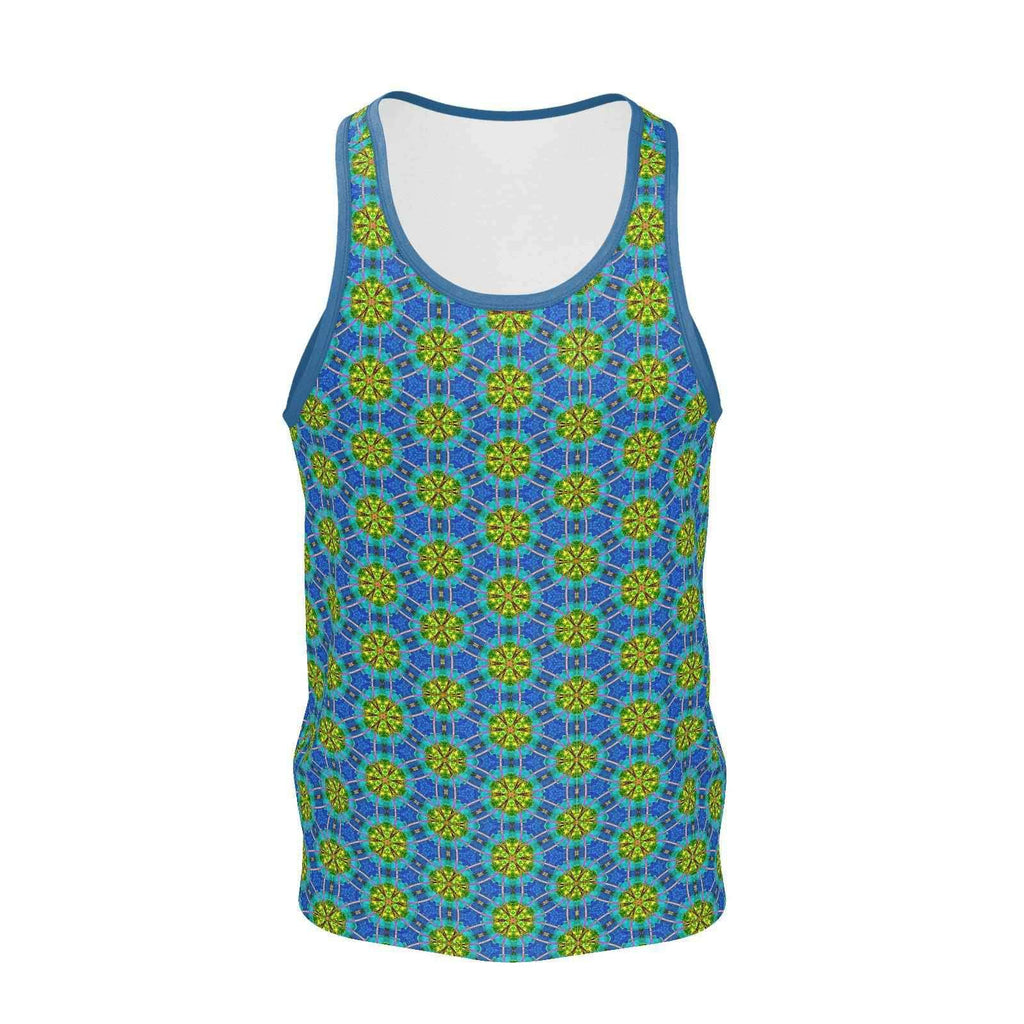 Flower of Life Lily Pads Mans Tank Top-Shirt-Sacred Geometry Web mens clothing
