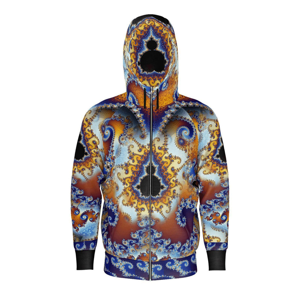 Fractal Fire - Fingerprint of Infinity-Hoodie-Sacred Geometry Web - Womens Flower of Life clothing
