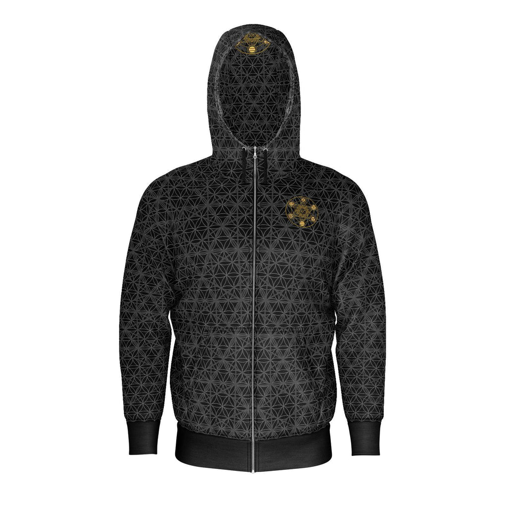 Metatron's Cube Isotropic Vector - Mens Hoodie-Hoodie-Sacred Geometry Web mens clothing