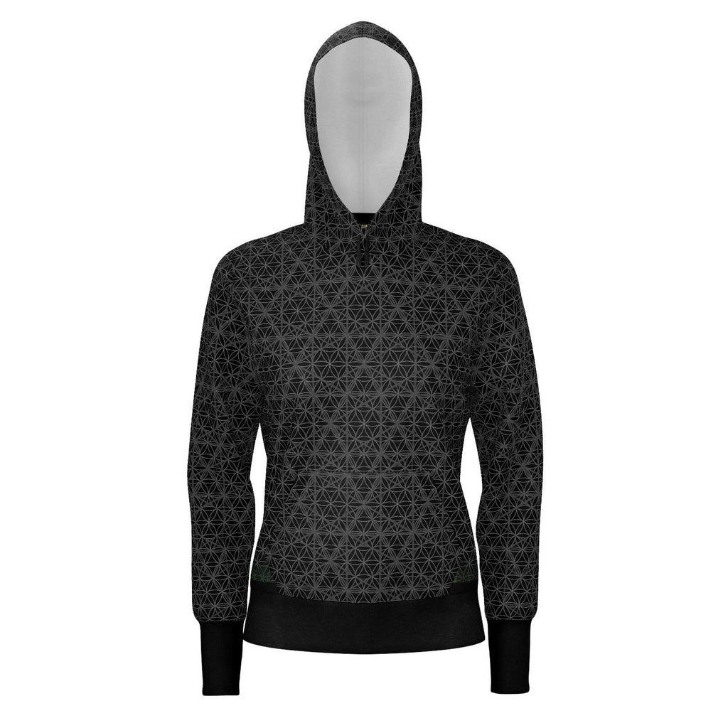 Metatron's Cube Isotropic Vector - Womans Hoodie-Hoodie-Sacred Geometry Web - Womens Flower of Life clothing
