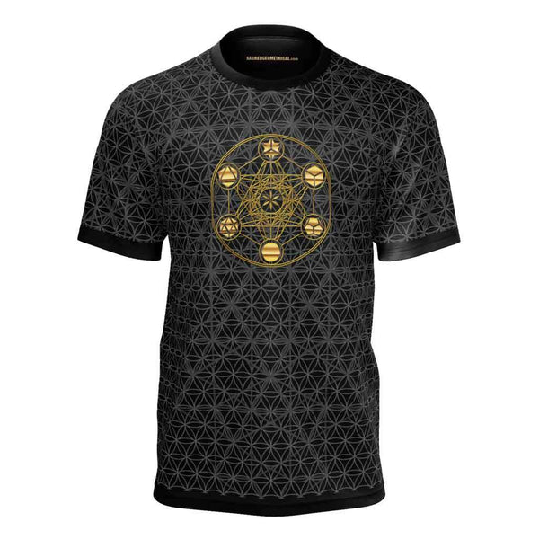 Metatron's Cube Platonic Symmetries - Tshirt-Shirt-Sacred Geometry Web mens clothing