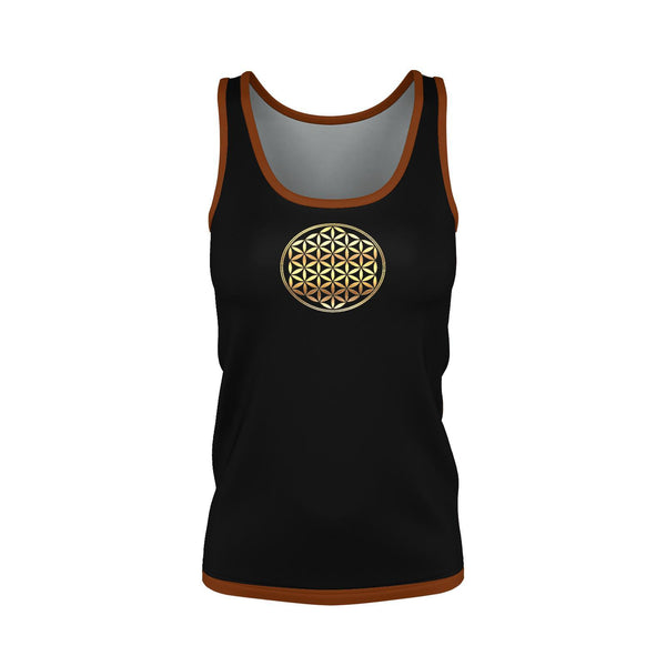 Metatrons Flower Womans Tank Top-Shirt-Sacred Geometry Web - Womens Flower of Life clothing