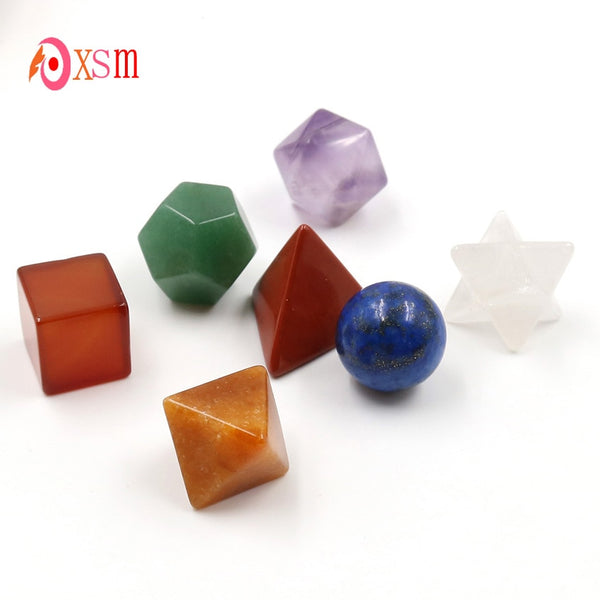 Platonics Crystals (plus sphere and startetrahedron) 7 Piece set