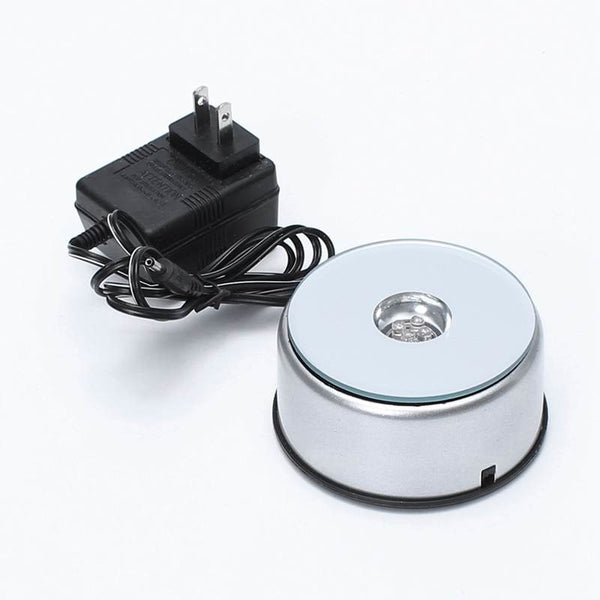 Rotating LED Lights Display Stand - battery or 110V adapter