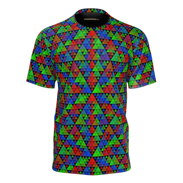 RGB Pixel Harmonic Triangles-Shirt-Sacred Geometry Web mens clothing