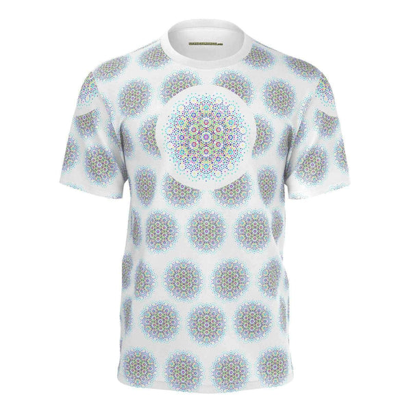 Theory of Everything E8 - Mans Tshirt White-Shirt-Sacred Geometry Web mens clothing