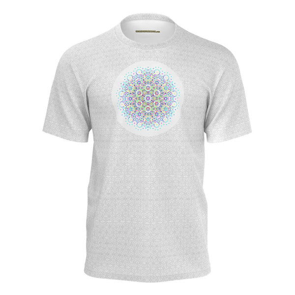 Theory of Everything E8 White Whole - Mans Tshirt White-Shirt-Sacred Geometry Web mens clothing