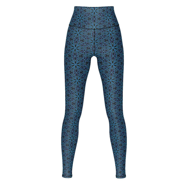 Various Patterns - Yoga Pants-Leggings-Sacred Geometry Web - Womens Flower of Life clothing