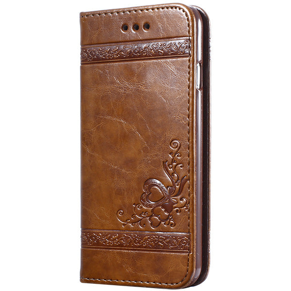 Coque iPhone Luxury Flip Leather