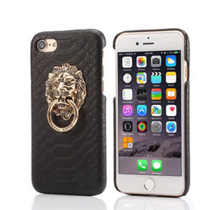 Coque iPhone Ring Tête de Lion