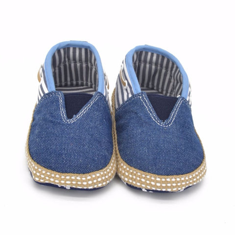 Denim Sole Crib Shoes