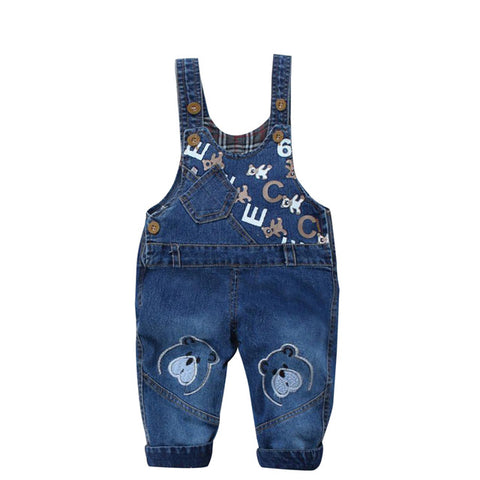 Casual Denim Suspender Jeans