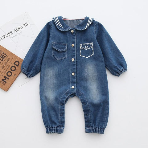 Newborn Denim Rompers