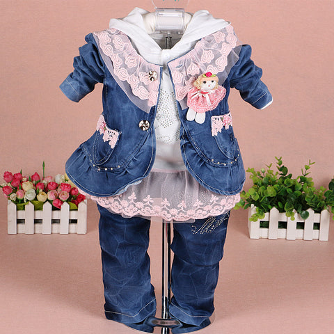 Girls Denim Clothing Set