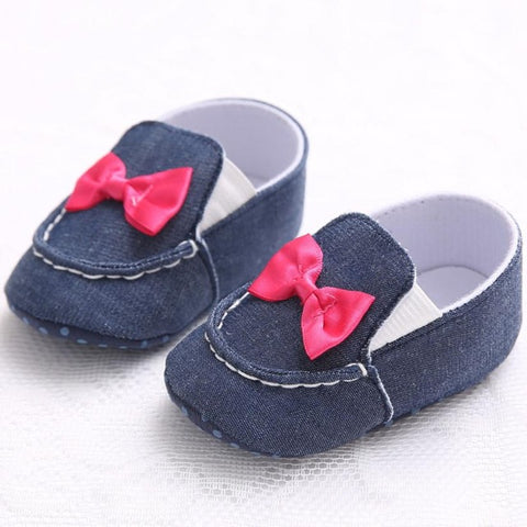 Cute Bowknot Denim Shoes