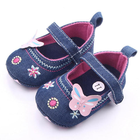 Embroidered Denim Shoes