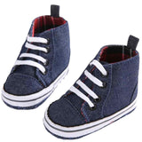 Lace-up Denim Shoes