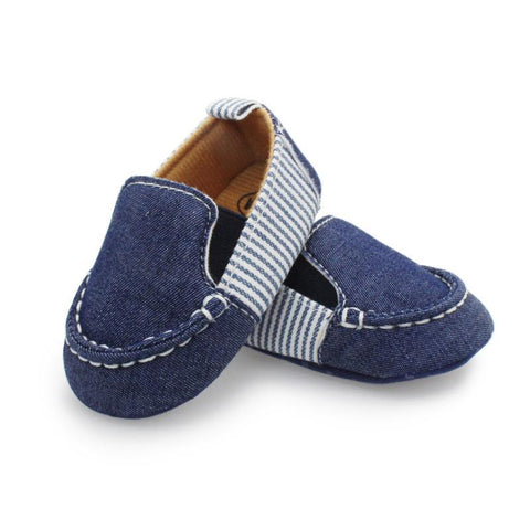 Casual Denim Striped Shoes