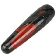 Large Natural Bloodstone Yoni Wand - The Glass Dildo @ theglassdildo.co.uk
