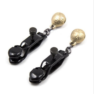 The Golden Glyph Nipple Clamps - The Glass Dildo @ theglassdildo.co.uk
