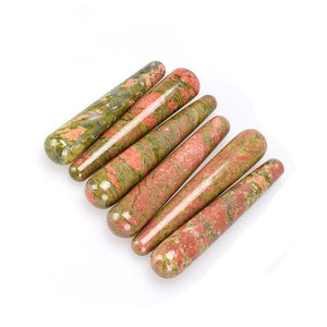 Natural Unakite Crystal Yoni Wand - The Glass Dildo @ theglassdildo.co.uk