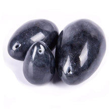 Black Obsidian Yoni Egg Set - The Glass Dildo @ theglassdildo.co.uk
