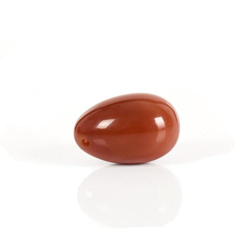 Natural Carnelian Jade Yoni Egg - The Glass Dildo @ theglassdildo.co.uk