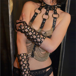 The Bondage Collar Cage Bra - The Glass Dildo @ theglassdildo.co.uk