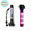 solar power flashlight lampe de poche Led Multifonctionnelle rechargeable USB et par solaire Source