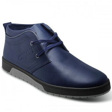 BOTTINE CUIR - SM-136- bleu