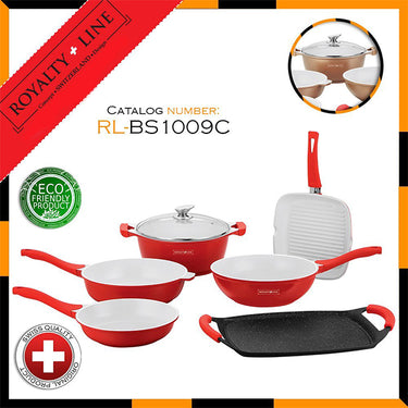 9 Piece Ceramic Coating Cookware Set RL- BS1009C