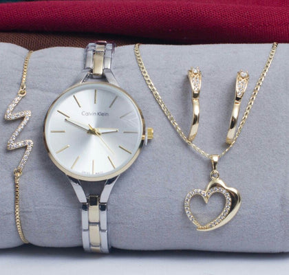 MONTRE + COLLIER + 2 BOUCLES D'OREILLE + BRACELET - PACK-A2